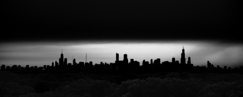 Skyline in Black and White