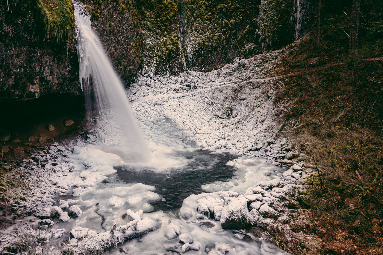 The White Bowl // Upper Horsetail Falls, Oregon