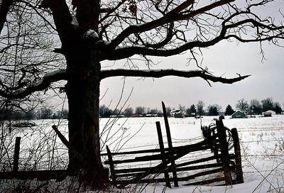 Winter landscape. Springfield, Missouri. Mid 1970s.