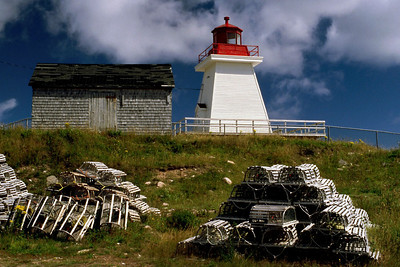 Light house, Neils Harbor, Nova Scotia, August 2004.
