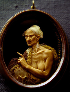 Wax cameo, Victoria and Albert Museum, London, England. 1983.