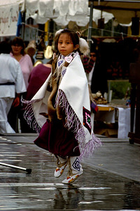 Native American child dancing - street festival - Phoenix Arizona, 1987