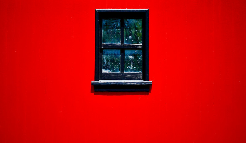 Red wall.
