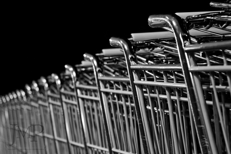 Steel Helpers - Shopping carts provide a diminishing perspective.
