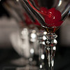 Cherry Martini - Martini glasses preloaded with cherries, ready to filled with tasty concoctions.