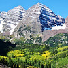 Maroon Bells in the Fall near Aspen Colorado