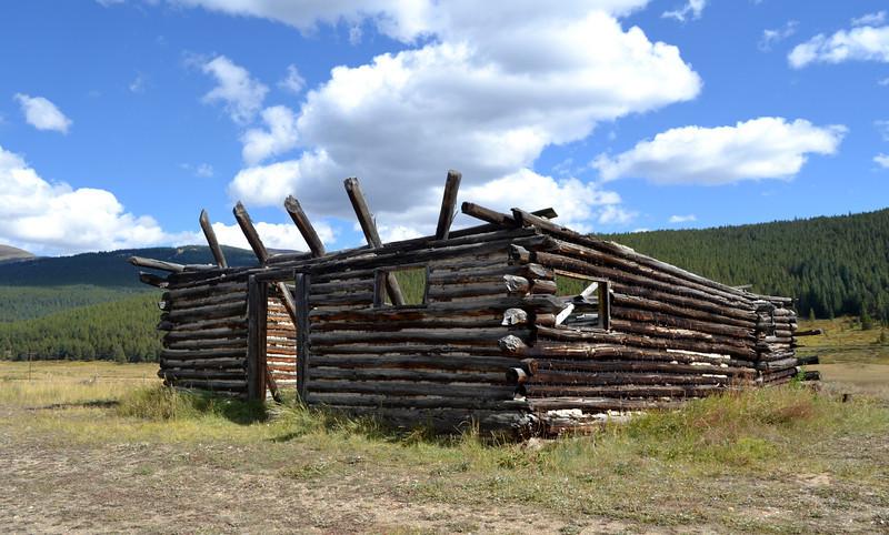 Cabin is still here near Leadville Colorado
