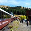 Riding the Colorado and Southern Narrow Guage Railroad near Leadville Colorado 2