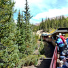 Riding the Colorado and Southern Narrow Guage Railroad near Leadville Colorado
