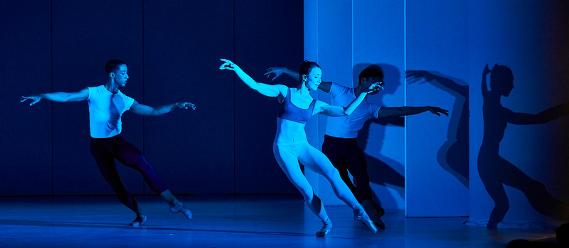 Jan. 20, 2019 - New York, NY - The Guggenheim Museum's Works and Process series presents Choreography of Light by Brandon Stirling Baker, with Jamar Roberts, Sarah Daley, and Patricia Delgado<br /> <br /> Explore the past, present, and future of lighting for ballet with visual artist and Boston Ballet lighting director Brandon Stirling Baker. A frequent collaborator with choreographer Justin Peck and a diverse group of artists including Anthony Roth Costanzo, Benjamin Millepied, Sufjan Stevens, Jamar Roberts, Michelle Dorrance, Emery LeCrone, and Shepard Fairey, Baker will present the world premiere developed through the Center for Ballet and the Arts at New York University. Inspired by the close relationship between choreography and lighting design, this program will features an excerpt of brand-new choreography by Justin Peck for an upcoming Houston Ballet premiere performed by Chun Wei Chan, Harper Watter, and Jessica Collado; along with new music by Sufjan Stevens; and new choreography by Jamar Roberts performed by Patricia Delgado, Sarah Daley, and Taylor Stanley.<br /> <br /> Photographer- Robert Altman<br /> Post-production- Robert Altman
