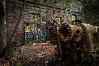 Power Station with Graffiti