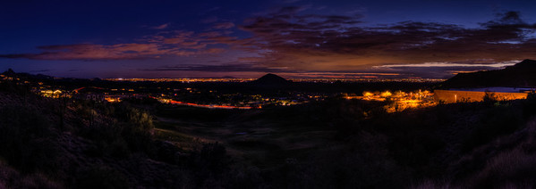 359 - Valley of the Sun at Nightfall  This is view from the Shea Boulevard Overlook in Fountain Hills, AZ
