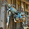 Old motorbike in Downieville, California.