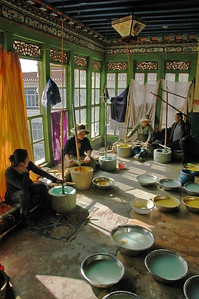 pigment preparation, Ancient Fine Art General Restoration Company, Lhasa