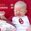 Today Josh and I went to Angela and Jonathan's for the OU/TEXAS game.  Poor Reid wasn't happy with the outcome.