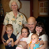 Here are my grandparents with my cousin, Joy and their great grands, Josh, Emma and Isabella.  I'm grateful that they get the chance to enjoy these kids and spoil them rotten.