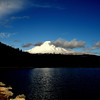 Mt Hood late afternoon..<br /> As we waited for the clouds to shift and go someplace, the sun would duck behind a dark cloud... I did use shadow on this...looks best in larger sizes.<br /> Happy Monday!
