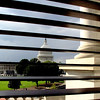 From the library of Congress the Capitol through the blinds.
