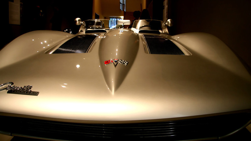 "This Chevy Corvette Stingray was the prototype for the loved ""vette"" of today. This is really a beautiful car..Part of the Allure of the automobile it can be seen at the Portland Art Museum.."