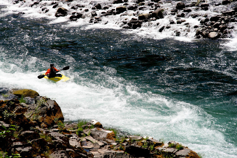 Shooting the rapids on the Upper Clackamas River. One way to keep cool on a warm summer's day..although the air was 85 the water is snowmelt from Mt Hood and is still around 55 or so..