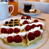 Red white and blue waffle! Here's to a happy and fun 4th!<br /> Happy fireworks everyone..