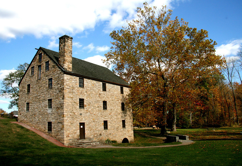 Old Grist Mill at Mt Vernon, Virginia,