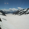 River of ice, top of Europe. Jungfraujoch.