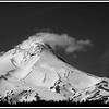 Mt Hood on a clear spring day in April, 2012. appx 11, 250 feet in altitude it has 11 glaciers and is a favorite for mountain climbers. They are expecting another 50 inches of snow up there as well as 50 mph winds..however, you can ski year round from Timberline Lodge!