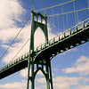 "St John's Bridge in Northwest Portland on a beautiful fall day! This bridge was begun just one month before the crash of 1929 and finished in 1931. For more information on this beautiful work of art check out wiki, <a href=""http://en.wikipedia.org/wiki/St._Johns_Bridge"">http://en.wikipedia.org/wiki/St._Johns_Bridge</a>."