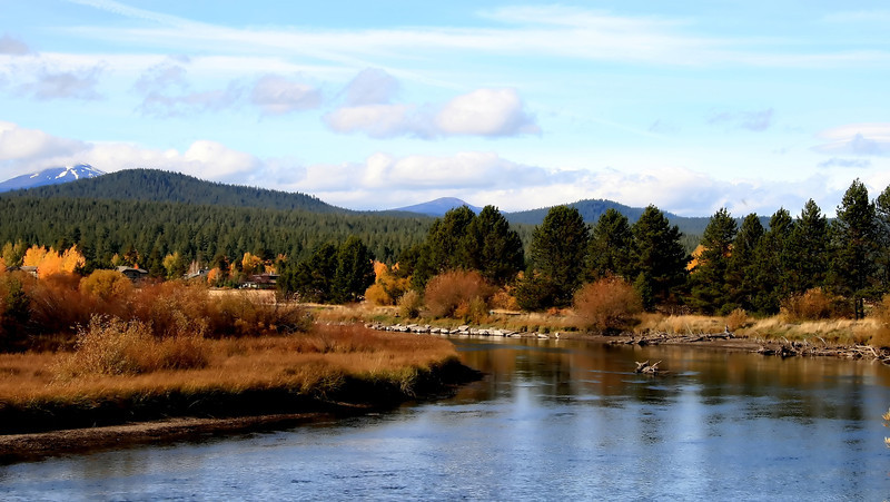 The Deschutes River in central Oregon just east of Sunriver..<br /> Wishing you all a great week!