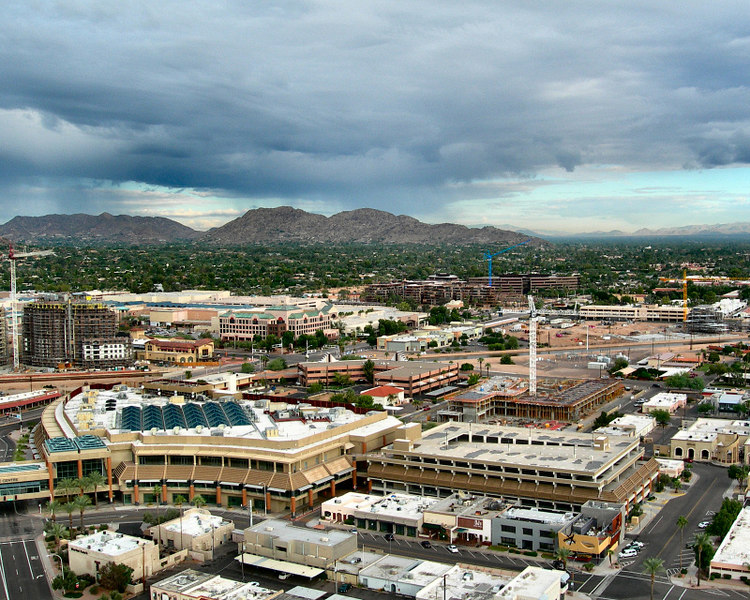 Aerial of the Westin hotel in Scottsdale, Arizona.