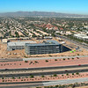 Aerial of construction at 101 and Ray in Chandler, Arizona.