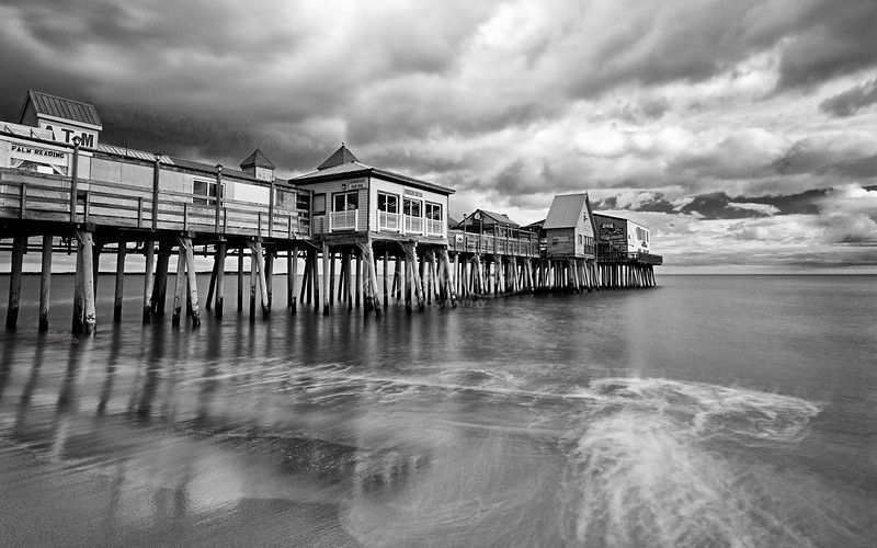 Old Orchard Beach Pier, silver