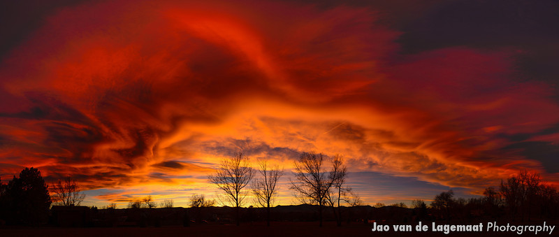 November sunsets in Colorado
