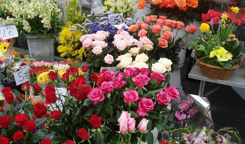 Flower Market in Torino