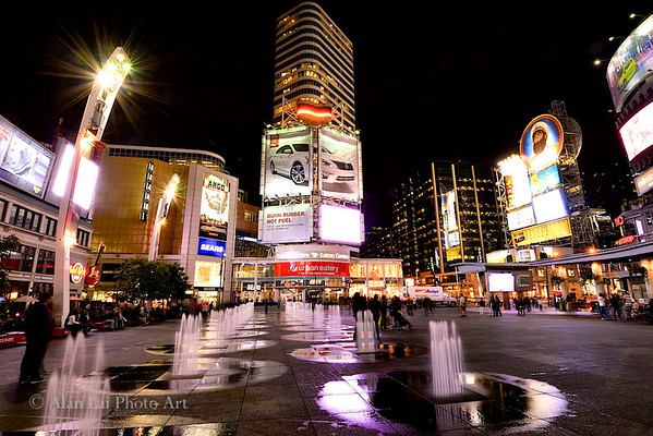 Yonge-Dundas Square at night