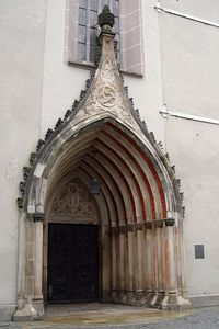 2005-09-12_06290 Eingangsportal der St. Michaeliskirche Entrance of the St. Michaeliskirche (church) in Hof.