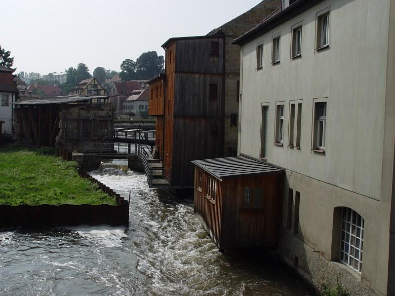 2005-09-14_06403 Häuser am linken Regnitzarm Houses at the left creek of the Regnitz