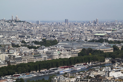 from 2nd : Petit Palais and Sacré Coeur (the Taj Mahal like church) on the left