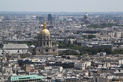 Invalides (golden) and Panthéon, from 2nd floor