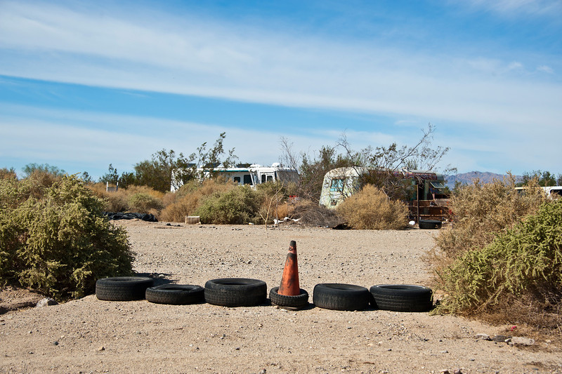 Looking shabby in Slab City, SoCal