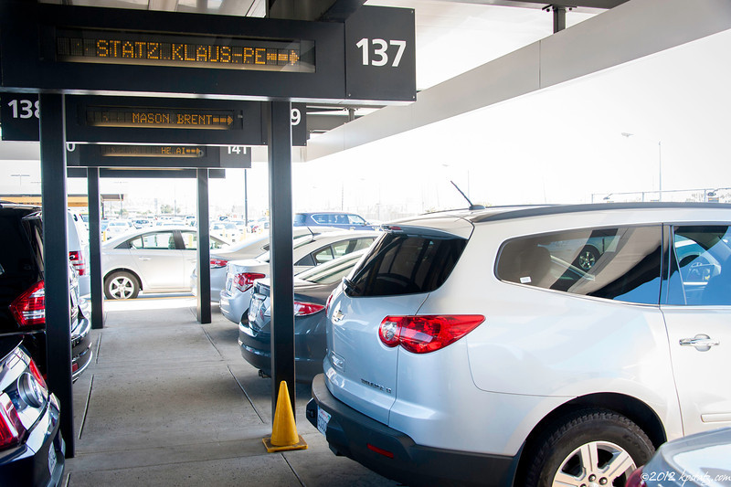 Guarding my rental car, San Diego Airport