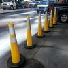 Yellow cones, NYC