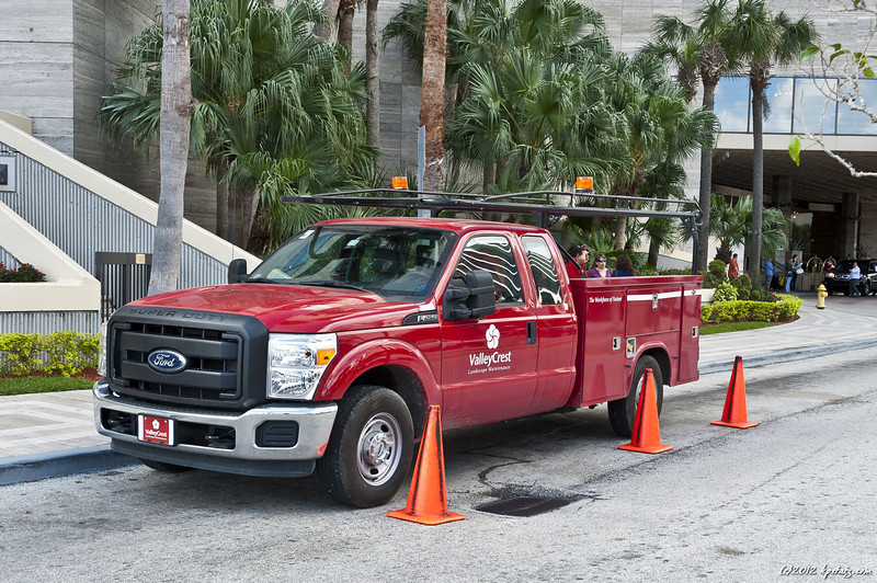 Without them, nobody would notice the truck. Miami