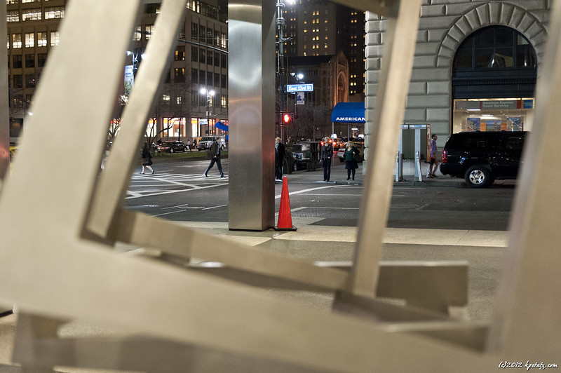 Seen through artwork, Lever Building, Park Avenue, NYC