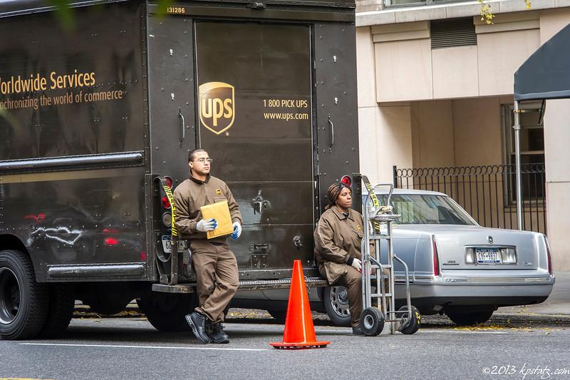 UPS cone, NYC
