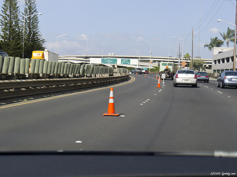 """Hawaii must be the world cone capital. Even Nimitz Highway in Honolulu is officially """"coned"""" twice a day."""