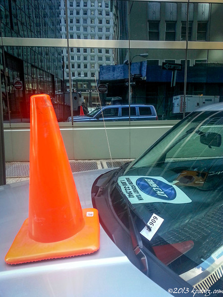 Reflected cone, NYC