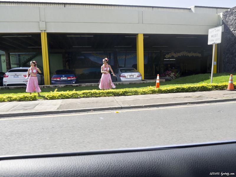 Swinging with hula girls, Honolulu, HI