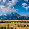 Grand Tetons Range from  Teton Point Turnout